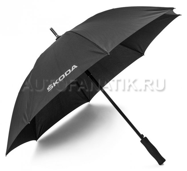 Зонт-трость Skoda Stick Umbrella Aquaprint Black 000087602H