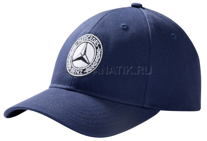 Мужская бейсболка Mercedes Men's Cap Navy Blue, 100% Cotton B66041540