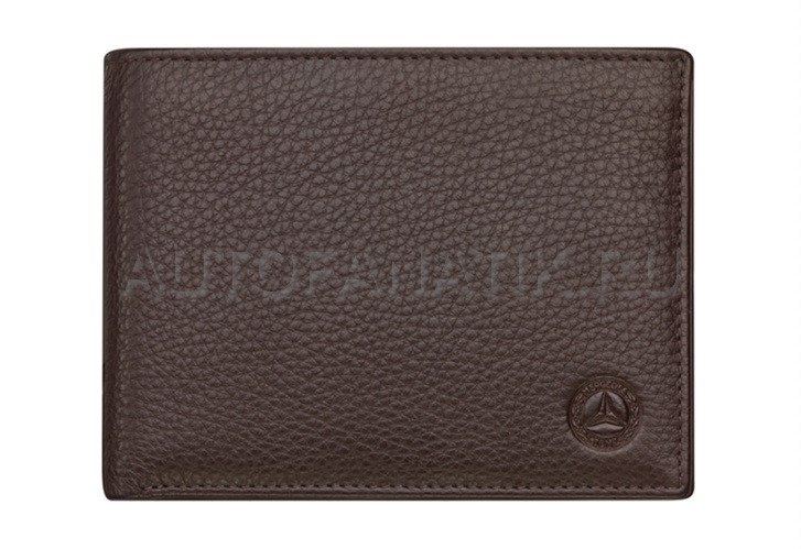 Кожаный кошелек Mercedes-Benz Leather Wallet, Classic, RFID protection, Brown B66042014