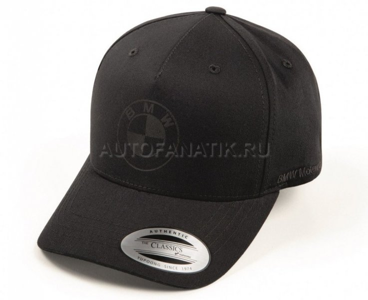 Бейсболка BMW Motorrad Baseball Cap, All Black 76899898652
